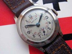 画像1: デッドストック 精工舎 セイコー ネーション スモセコ 24時間表示 7石 OH済み 1930年代 戦前