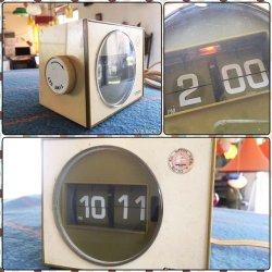 画像1: シチズン パタパタ時計 100V50/60HZ対応 昭和レトロ