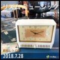 箱付き デッドストック(未使用) リズム Rhythm オルゴール目覚まし置時計 手巻き 昭和レトロ