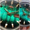 未調整 オリエント 緑グラデーション文字盤 内側9面カットガラス 可動品 46941