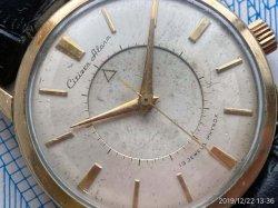 画像1: 初期型ファーストモデル シチズン アラーム  OH済み 手巻き 19石 国産初のアラームウォッチ 1950年代