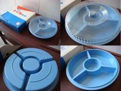 画像1: モダンオードブルセット 青 菓子入れ 箱付きデッドストック昭和レトロ