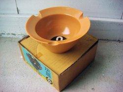 画像1: アッシュトレイ 灰皿 LEADER 黄土色 箱付き デッドストック